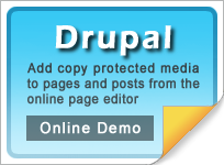 Copy protect Drupal web pages and media
