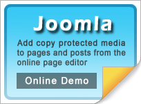 Copy protect Joomla web pages and media