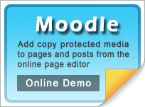 Copy protect Moodle web pages and media