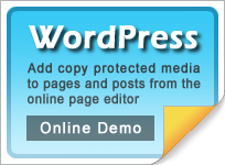 Copy protect WordPress web pages and media
