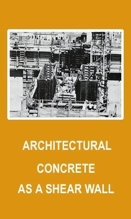 Architectural Concrete Serves as Shear Wall
